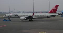Northwest N537US Boeing 757-252WL departure from Amsterdam AMS Netherlands (thelastvintage) Tags: northwest n537us boeing 757252wl departure from amsterdam ams netherlands