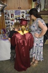 Graduation Reception - Homeschool Co-op (Pictures by Ann) Tags: sophia senior graduation highschoolgraduation homeschool homeschoolgraduation graduationreception reception capandgown marooncap maroongown tassel 2019 classof2019 goldstole honorstole cords cousins displayboard photodisplayboard photos memories photoboard balloons purpleballoons silverballoons purpletulle tulle silver purple seniorphotos trophy 4hpins harpcd cd honorcords stole