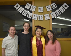 Graduation Reception - Homeschool Co-op (Pictures by Ann) Tags: sophia senior graduation highschoolgraduation homeschool homeschoolgraduation graduationreception reception capandgown marooncap maroongown tassel 2019 classof2019 goldstole honorstole cords cousins mary honorcords stole