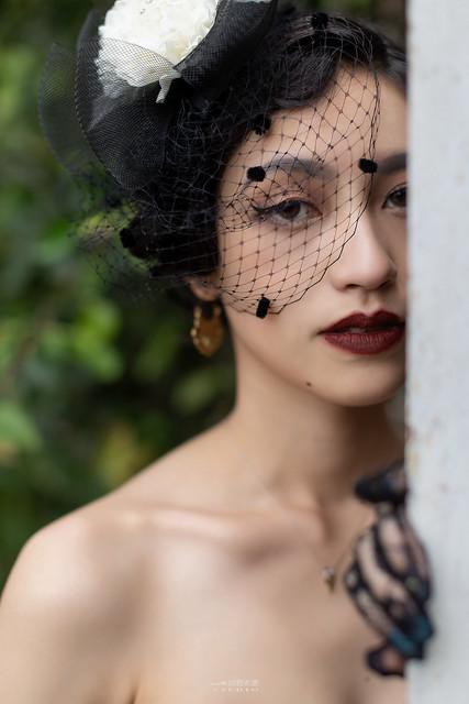 台南婚攝 | 歐式莊園婚紗外拍,復古面紗透露高冷名媛神秘感 1