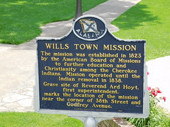 Wills Town Mission Historic Marker (jimmywayne) Tags: alabama fortpayne ftpayne dekalbcounty historic marker willstown mission