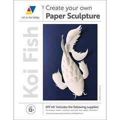 Koi Fish Paper Sculpture Kit (all things paper) Tags: koifish koi papersculpture diy papercraft paperart tiffanybudzisz craftkit papercraftkit