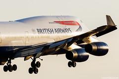 G-CIVF (Andras Regos) Tags: aviation aircraft plane fly airport lhr egll heathrow approach landing spotter spotting ba britishairways boeing 747 b744 747400 jumbo jumbojet sunset