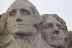 George Washington and Thomas Jefferson on Mount Rushmore (Hazboy) Tags: hazboy hazboy1 keystone south dakota mount rushmore west western us usa america april 2019 presidents president
