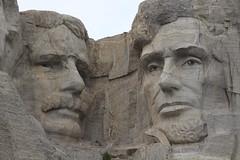Teddy Roosevelt and Abraham Lincoln on Mount Rushmore (Hazboy) Tags: hazboy hazboy1 keystone south dakota mount rushmore west western us usa america april 2019 presidents president
