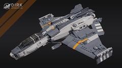 Dirk Variable-Role Interceptor (Ariklego) Tags: dirk interceptor starfighter star fighter lego starship spaceship