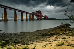 Forth rail bridge (@Bradders) Tags: forth rail bridge scotland sea river clouds structure beach longexposures