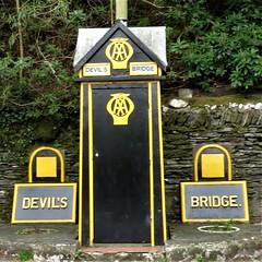 Old AA Box at Devil's Bridge, Mid Wales (HighPeak92) Tags: aaboxes oldaaboxes devilsbridge midwales canonpowershotsx700hs