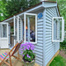 Virginia Woolf 1882-1941  Novelist and Critic wrote in a shed just like this.  Landscape Institute 90th Anniversary celebrated at the RHS Chelsea Flower Show 2019