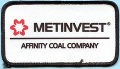 A Metinvest, Affinity Coal Company patch (Coalminer5) Tags: coalmining coalminer coalmemorabilia coalcollectibles miningmemorabilia mining miningcollectible miningartifacts miner sewonpatch