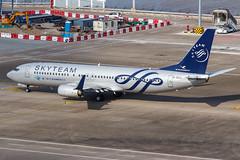 """XIAMEN AIR B737-800(WL) B-5633 """"SKYTEAM"""" 002 (A.S. Kevin N.V.M.M. Chung) Tags: aviation aircraft aeroplane airport airlines boeing b737800wl b737 plane spotting macauinternationalairport mfm taxiway taxiing skyteam speciallivery xiamenairlines"""