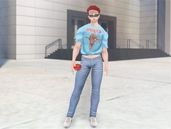 Emerican Apparel (EnviouSLAY) Tags: equal10 equal 10 crop tee blue graphic red jeans beret toksik blond sunglasses black sneakers versov riot bag pill fashion cityscene city scene secondlifefashion secondlifephotography newreleases new releases belleza bento jake lelutka andrea monthlyevent monthlyfashion monthlyfair monthly fair event pale male gay lgbt blogger secondlife second life photography aloe letre aurealisaccessories aurealis accessories pare model