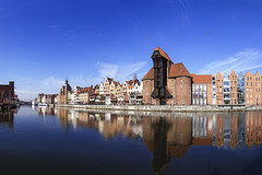Riverside of Gdansk (brienneboom) Tags: architecture art attraction baltic boat brick building buildings caravel center city crane danzing decorative gdansk hanse hanseatic harbor historic historical marine medieval monument nautical naval navy old ornament panoramic panorama picturesque poland polish port ship street tourism town travel urban vessel vintage visit visitor water wharf wide wood wooden riverside