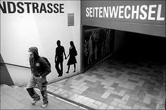 walking out of time (bostankorkulugu) Tags: hamburg germany europe deutschland bw bostankorkulugu bostanci bostan blackwhite blackandwhite monochrome hansestadt hanseatic ubahn stairs cap man walk langenhorn langenhornmarkt