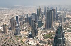 View from Burj Khalifa (twomphotos) Tags: dubai uae united arab emirate vereinigte arabische desert city skyscraper burj khalifa