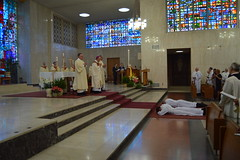 Church prays the Litany of the Saints for the deacon candidates
