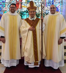 Bishop Persico with Deacons Holland and Petrone