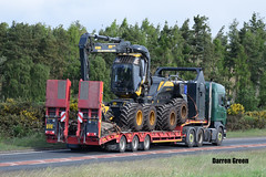 DONNIE McNICOL SCANIA HIGHLINE R480 BJ13 BSX (Darren (Denzil) Green) Tags: king forestry timber transport donnie trailers harvester processor highline scania muiroford timberharvester scaniatrucks lowloaderhire donniemcnicol highlandrenewableenergy bj13bsx