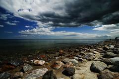 Suessau beach with a calm Baltic sea