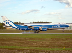 VQ-BRH (Skidmarks_1) Tags: vqbrh airbridgecargo boeing747 cargo freighter engm norway osl oslogardermoenairport aviation aircraft airport airliners
