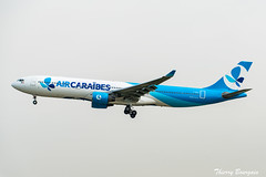[ORY] Air Caraîbes - FrenchBee Livery Airbus A330-323 _ F-HPUJ (thibou1) Tags: thierrybourgain ory lfpo orly spotting aircraft airplane nikon d810 tamron sigma aircaraïbes frenchbee fhpuj airbus airbusa330 a330 a330300 a330323 landing