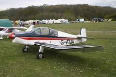 G-ATJA (IndiaEcho) Tags: light england canon eos fly airport general aircraft aviation rally hampshire aeroplane civil microlight popham basingstoke airfield in eghp 1000d jodel 1050 gatja