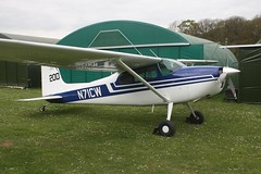 N71CW (IndiaEcho) Tags: n71cw cessna 180 eghp popham airport airfield light general civil aircraft aeroplane aviation basingstoke hampshire england canon eos 1000d microlight fly in rally