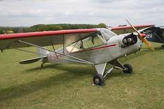G-BJAF (IndiaEcho) Tags: light england canon eos fly airport general aircraft aviation hampshire aeroplane civil microlight popham basingstoke airfield in eghp 1000d cub piper gbjaf