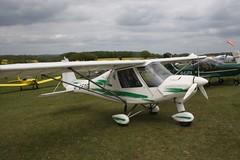 G-CFOG (IndiaEcho) Tags: light england canon eos fly airport general aircraft aviation rally hampshire aeroplane civil microlight popham basingstoke airfield in eghp 1000d ikarus c42 gcfog