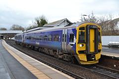 Scotrail Express Sprinter 158732 (Will Swain) Tags: inverkeithing 23rd november 2018 train trains rail railway railways transport travel uk britain vehicle vehicles scotland scottish north europe scotrail express sprinter 158 class 158732 732