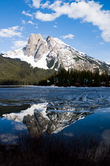 Reflections In Emerald (ellieupson) Tags: emerald lake mountain reflection snow canada bc britishcolumbia yoho nationalpark ice lanscape water blue