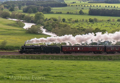 Chasing the sun (Matt.Evans44871) Tags: 48151 8f wcrc dalesman langwathby pan panning railway train west coast company steam locomotive lms br settle carlisle sc