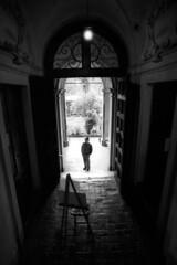 The visitor - Reggio Emilia - April 2019 (cava961) Tags: fotografiaeuropea reggioemilia monochrome monocromo analogue analogico bianconero bw