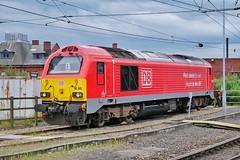 At the Ready (JohnGreyTurner) Tags: br rail uk railway train transport diesel engine locomotive newcastle tyneandwear 67 class67 skip thunderbird db dbs dbc ews