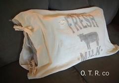 Farmhouse Flour Sack pillow sham (grimcreations) Tags: farmhouse fixer upper flour sack vintage antique farm barn barnwood cotton floursack fabric ticking pillow fresh