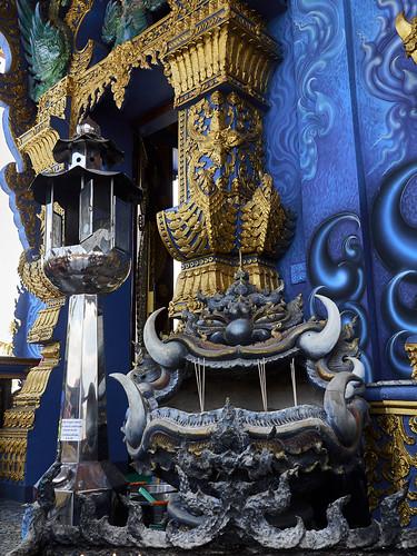 Wat Rong Suea Ten (Templo Azul), Chiang Rai, Tailandia
