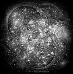 Time and Space (Rollingstone1) Tags: space time fractal bw stars cosmos infinity art artwork