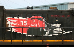 CN 2128, 15 Year Logo, Chapman, Neenah, 27 May 19 (kkaf) Tags: neenah chapman 15anniversary a416 c408
