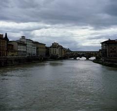 Ponte vecchio (michele.palombi) Tags: florence film 120mm analogic 100asa 6x6 lubitel c41 negativo colore