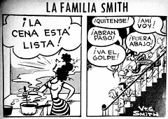 Smith Family Newspaper Cartoon Comic Strip 9556 (Brechtbug) Tags: the smith family daily comic strip from 1969 spanish by george virginia 06031969 universal press syndicate newspaper news paper cartoon cartoons comics 1951 1994 translation panel 1 dinner is ready 2 take off here i go make way look out below blow 3 clomp etc 4 exit stage right