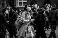 Tokyo (burnt dirt) Tags: asian japan tokyo shibuya station streetphotography documentary candid portrait fujifilm xt1 bw blackandwhite laugh smile cute sexy latina young girl woman japanese korean thai dress skirt shorts jeans jacket leather pants boots heels stilettos bra stockings tights yogapants leggings couple lovers friends longhair shorthair ponytail cellphone glasses sunglasses blonde brunette redhead tattoo model train bus busstation metro city town downtown sidewalk pretty beautiful selfie fashion pregnant sweater people person costume cosplay boobs