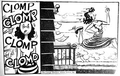 Smith Family Newspaper Cartoon Comic Strip 9560 (Brechtbug) Tags: the smith family daily comic strip from 1969 spanish by george virginia 06031969 universal press syndicate newspaper news paper cartoon cartoons comics 1951 1994 translation panel 1 dinner is ready 2 take off here i go make way look out below blow 3 clomp etc 4 exit stage right
