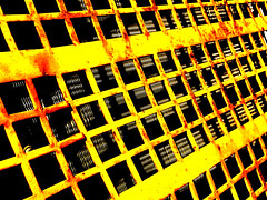 Construction Equipment Grille (JRW Photo Gallery) Tags: radiator grille lines shadows yellow