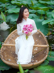 Lotus (SuBinZ) Tags: aodai girl gai sen lotus flower cute vietnam vietnamese portrait gfx50s fujifilm gf110mm flickr vietjacky women longdress traditional