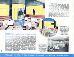 Marlite (jericl cat) Tags: marsh wall products inc dover ohio marlite commercial brochure booklet illustration photo restaurant hotel shop store interior design remodel uses use exterior wayside inn west springfield ma robinson patrick jack dempsey dining room eastman louis brooks 1930s 1940s streamline streamlined moderne modernize