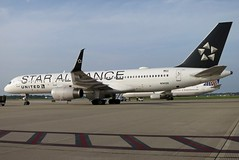 N14120 UNITED STAR ALLIANCE 757-224 at KCLE (GeorgeM757) Tags: n14120 united staralliance 757 boeing diversion kcle clevelandhopkins georgem757 aircraft aviation airplane airport 757224