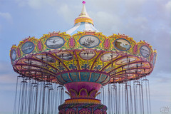 Carnival Dreams (amymedina.photoart) Tags: art beachboardwalk blue california carnival clouds colorful fineart painterly pastel photography pink santacruz santacruzwharf seacliffstatebeach sky