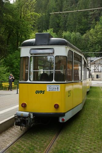 Zugschluss der Kirnitzschtalbahn