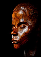 Strength and Beauty (Maria .... on here to learn and be inspired.) Tags: durham chapel galileechapel cathedral sculpture bust wood wooden light shade lightandshade statue