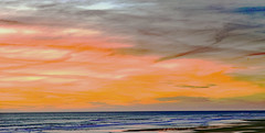 The picture that wanted to be a painting (Ciceruacchio) Tags: picture photo foto painting peinture pittura sunset coucherdesoleil tramonto ocean oceano sea mer mare atlanticcoast costaatlantica france francia frankreich nikond750